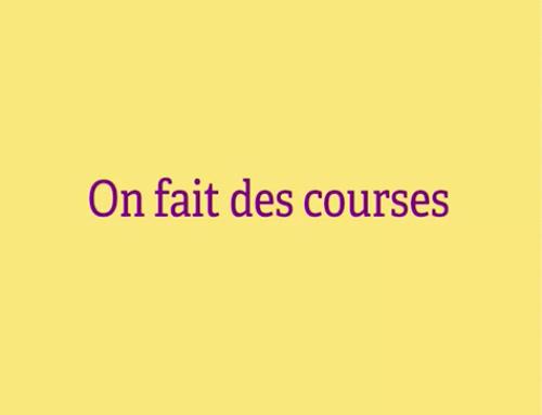 On fait des courses – Proyecto de francés de Primaria